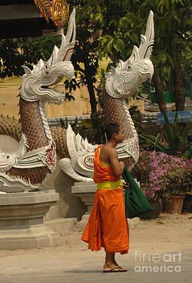 Photograph - Buddhist Monk Thailand 3 by Bob Christopher