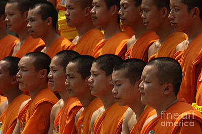 Photograph - Buddhist Monks Thailand 2 by Bob Christopher