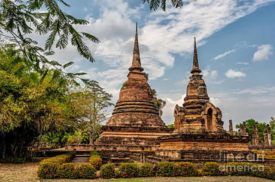 Temple Wall Art - Photograph - Buddhist Park by Adrian Evans