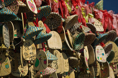 Repetition Photograph - Buddhist Prayer Wishes Ema Hanging by Panoramic Images