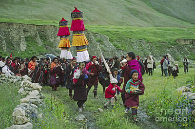 Photograph - Buddhist Procession - Do Tarap Valley Nepal by Craig Lovell