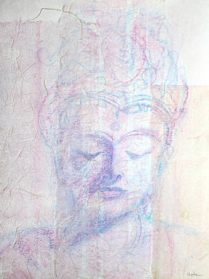 Painting - Buddhist Queen Of Long Ago by Asha Carolyn Young