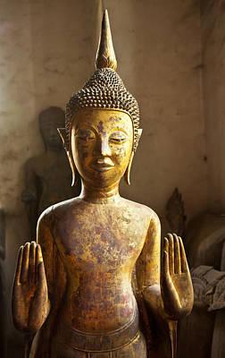 Buddhist Statues G - Photograph By Jo Ann Tomaselli  Art Print