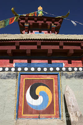 Photograph - Buddhist Symbol On Chorten - Tibet by Craig Lovell