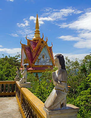 Photograph - Buddhist Temple At Phnom Sampeu by David Freuthal