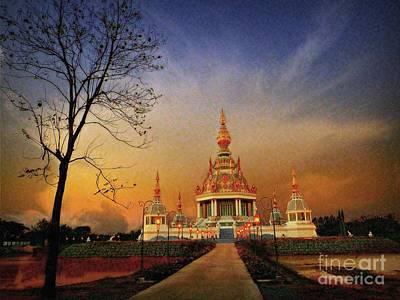 Photograph - Buddhist Temple At Twilight by Ian Gledhill