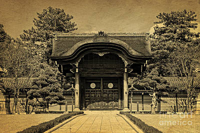 Photograph - Buddhist Temple Gate In Early Spring by Beverly Claire Kaiya