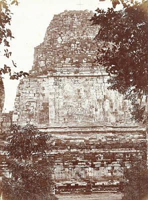 Buddhist Drawing - Buddhist Temple Mendut, Woodbury & Page by Artokoloro