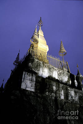 Photograph - Buddhist Wat Laos by Ryan Fox