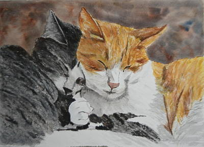 Painting - Buddies by Betty-Anne McDonald