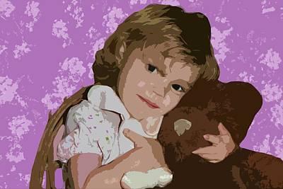 Little Girl Mixed Media - Buddies by Ellen Henneke