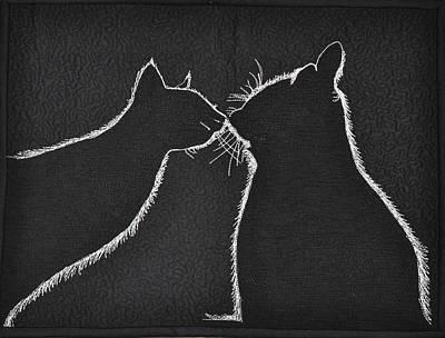 Tapestry - Textile - Buddies by Jo Baner