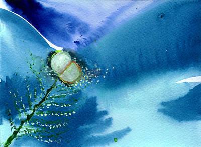 Winter Light Drawing - Budding 2 by Anil Nene