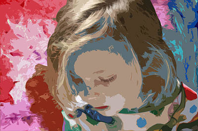 Youngsters Mixed Media - Budding Artist by Ellen Henneke