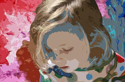 Youth Mixed Media - Budding Artist by Ellen Henneke