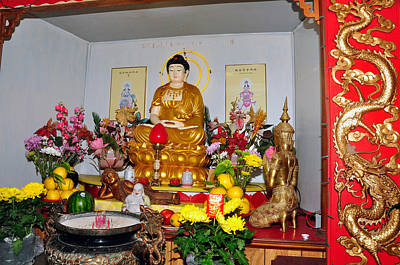 Photograph - Buddist Alter by Helen Haw