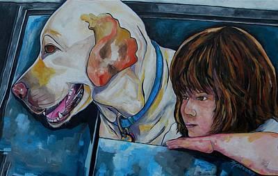 Painting - Buddy And Jessica by Patti Schermerhorn
