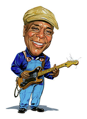 Comical Painting - Buddy Guy by Art
