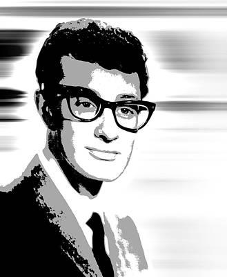 Pioneers Digital Art - Buddy Holly Pop Art by Daniel Hagerman