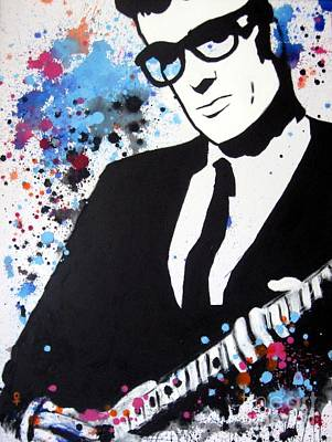 Outsider Art Mixed Media - Buddy Holly by Venus
