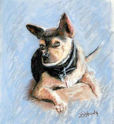 Pastel Portraits Pastel - Buddy by John De Young