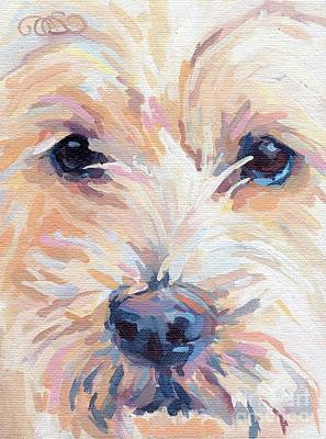 Portrait Commissions Painting - Buddy by Kimberly Santini