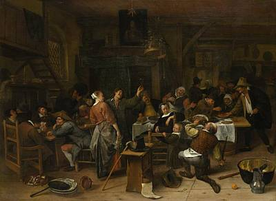 Budget Day Print by Jan Steen