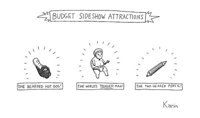 Budget Sideshow Attractions Like A Baby Art Print by Zachary Kanin