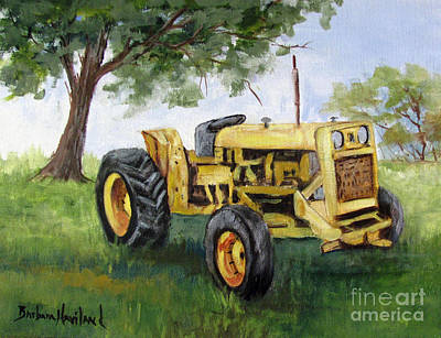 Bud's Yellow Tractor Art Print