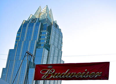 Photograph - Budweiser And Building  by Kristina Deane