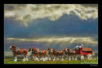 Budweiser Clydesdale Paint 2 Print by Blake Richards
