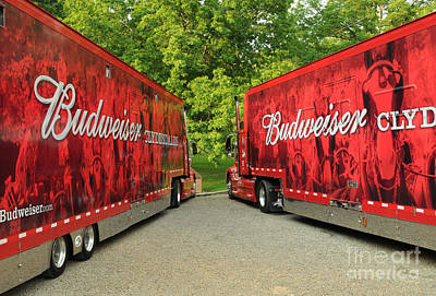 Clydesdale Photograph - Budweiser Clydesdale Trucks by Jt PhotoDesign