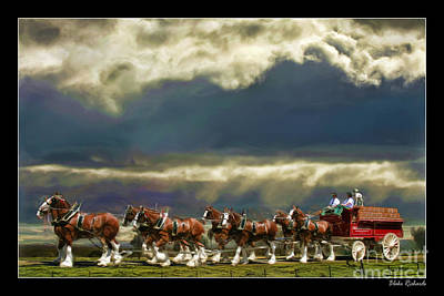 Budweiser Clydesdales Paint 1 Print by Blake Richards