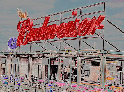 Photograph - Budweiser In Neon by Caroline Stella