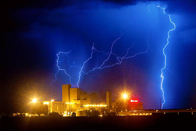 Storms Photograph - Budweiser Power by James BO  Insogna