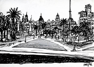 Argentina Drawing - Buenos Aires Argentina  by Paul Sutcliffe
