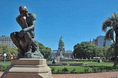 Photograph - Buenos Aires Capitol Building by Steven Richman