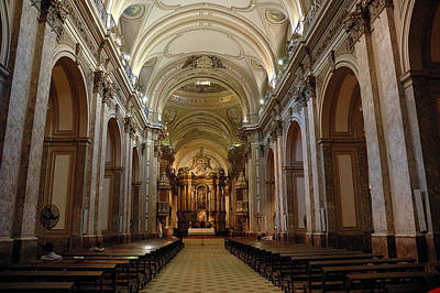 Church Photograph - Buenos Aires Cathedral by Steven Richman