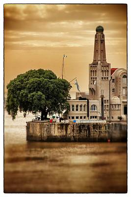 Buenos Aires Lighthouse Dramatic Art Print by For Ninety One Days
