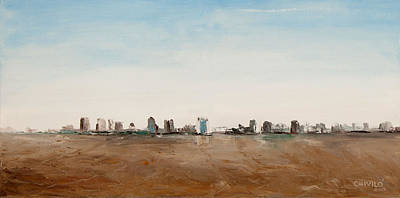 Skyline Painting - Buenos Aires Skyline 01 by Hector Chivilo