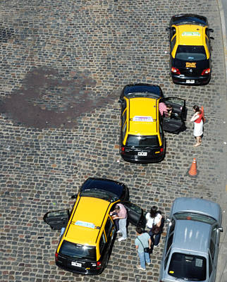 Photograph - Buenos Aires Taxis by Steven Richman