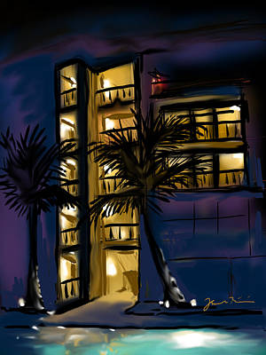 Art Print featuring the painting Buenos Noches Gloria by Jean Pacheco Ravinski