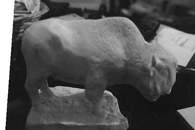Sculpture - Bufalo Model by Memo Memovic
