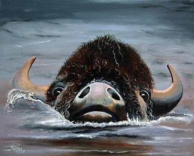 Bath Time - Buffallo Crossing by Petra Stephens