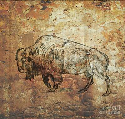 Drawing - Buffalo 4 by Larry Campbell