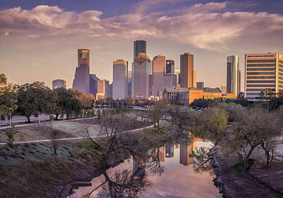 Photograph - Buffalo Bayou Reflections by David Morefield