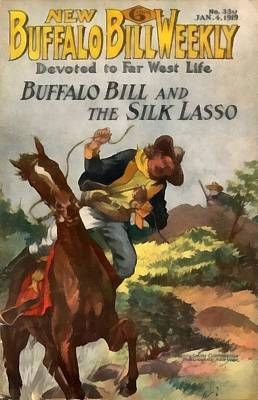 Buffalo Bill And The Silk Lasso Art Print by Dime Novel Collection