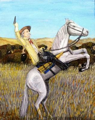 Painting - Buffalo Bill Cody by Larry Lamb
