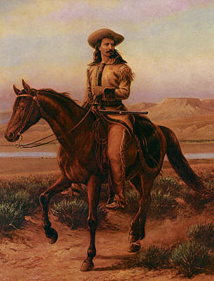 Buffalo Bill On Charlie Art Print by William Cary