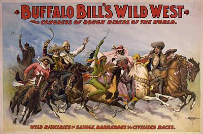 Buffalo Bill Poster, C1896 Art Print by Granger